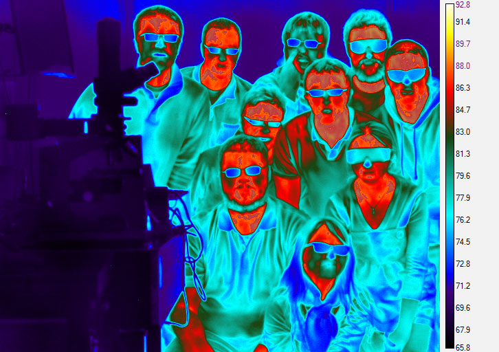 3-5 micron InSb Infrared Image of Group Members